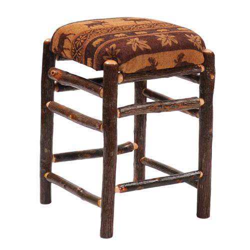 Hickory Square Fabric Barstool
