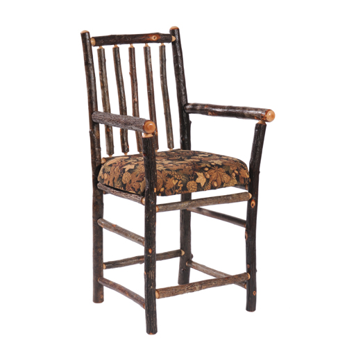 Hickory Bar Chair with Arms