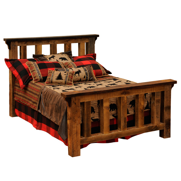 Barnwood Post Bed