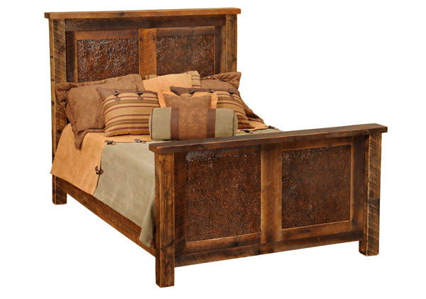Barnwood Copper Inset Bed