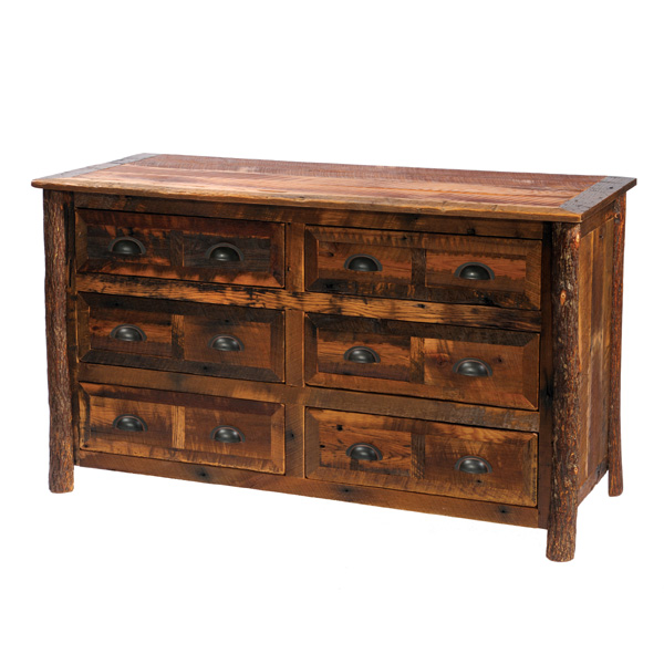 Barnwood 6 Drawer Dresser