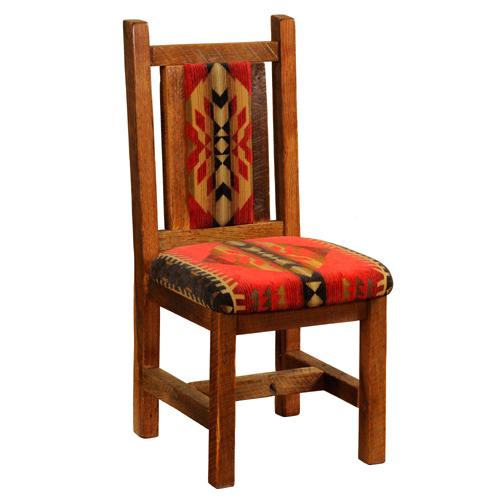 Barnwood Artisan Upholstered Dining Chair