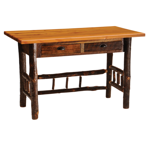 Barnwood Writing Desk with Drawers
