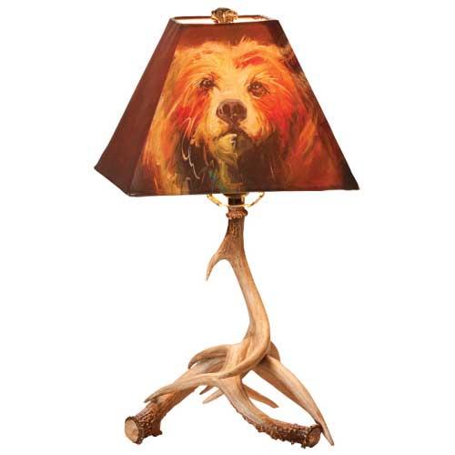 Bear Faux Antler Lamp