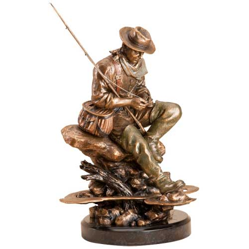 Bliss - Fly Fisherman Sculpture