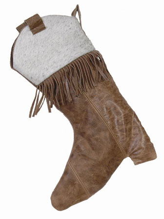 Leather Boot Christmas Stocking