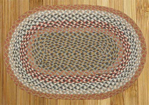 Light Spice Braided Rug