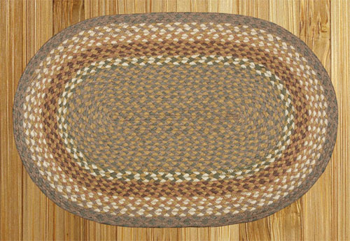 Mustard and Ivory Braided Rug