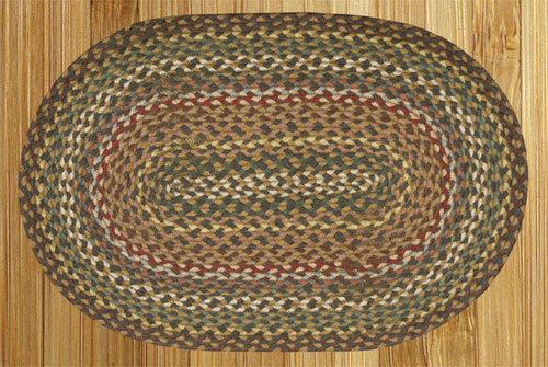 Fir and Ivory Braided Rug