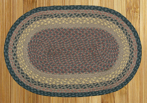 Brown, Black and Charcoal Braided Rug