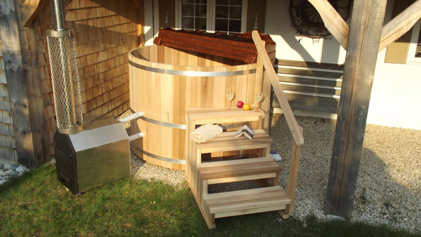 Cedar Barrel Hot Tub