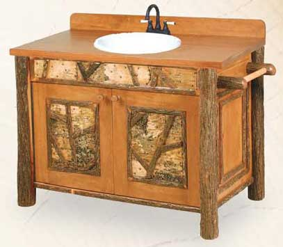 Old Faithful VanityWith Northwoods Accents