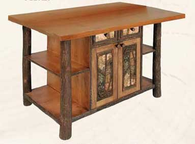 Kitchen Island with Northwood Accents