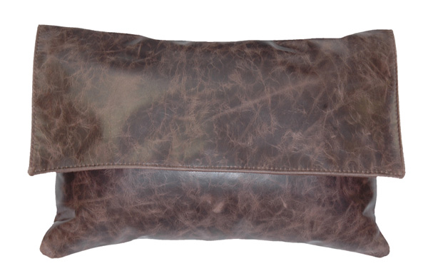 Fargo Chocolate Leather Pillow