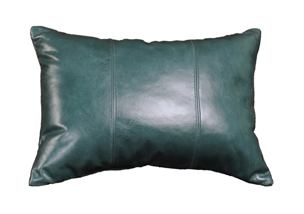 Peacock Leather Pillow