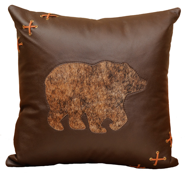 Bear Leather Pillow