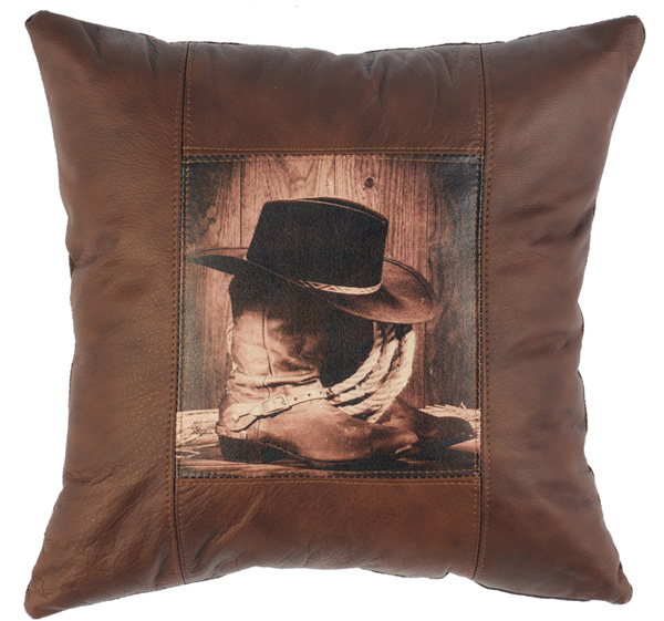 Boot Leather Pillow