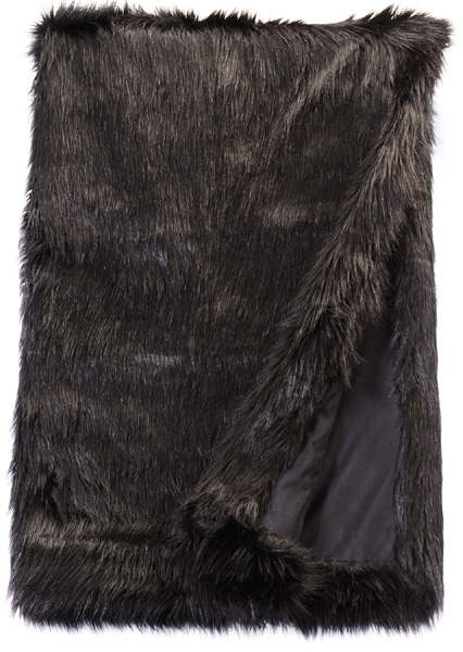 Black Fox Fur Throw