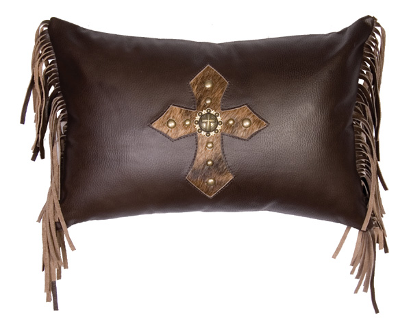 Mesa Espresso Leather Pillow
