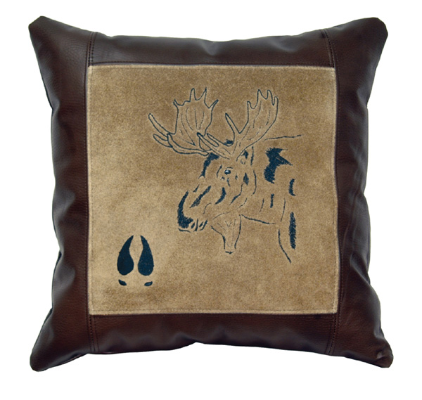 Moose Leather Pillow