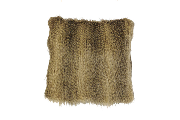 Raccoon Fur Pillow