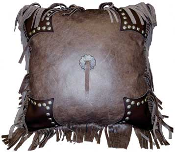 Aztec Leather Pillow