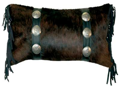 Hair on Hide Leather Pillow