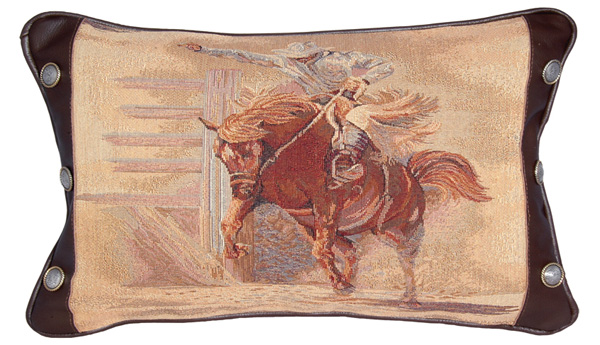 Bronco Leather Pillow