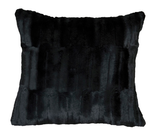 Black Bear Fur Pillow