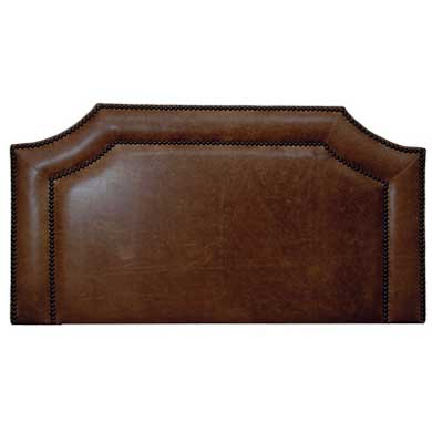 Scalloped Leather Head Board