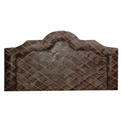Scalloped Leather Head Board