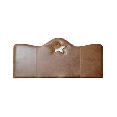 Star Leather Headboard