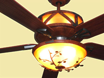 Oak Leaf and Acorn Ceiling Fan