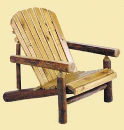 Adirondack Chair w/Hickory Arms