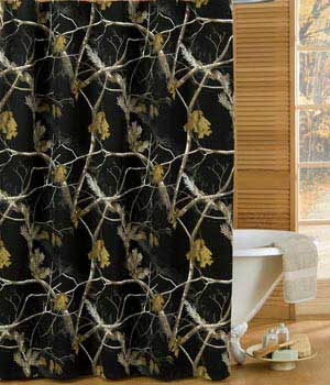All Purpose Black Shower Curtain