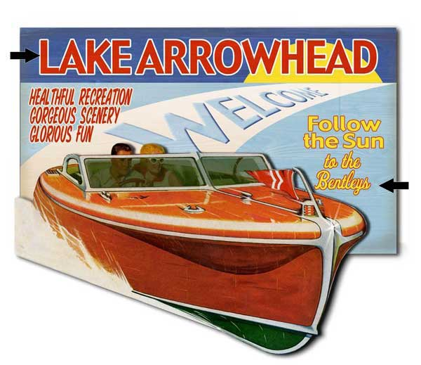 Custom 2-Dimensional Boaters Sign