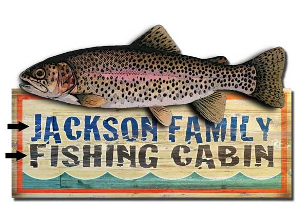 Custom 2-Dimensional Fishing Cabin Sign