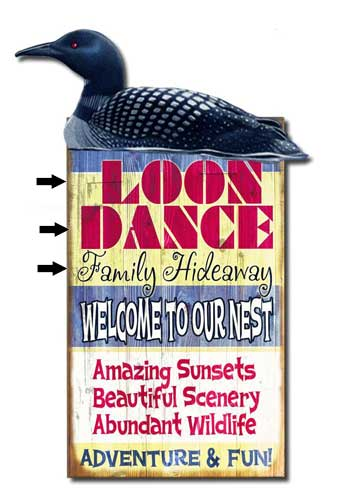 Custom 2-Dimensional Loon Sign