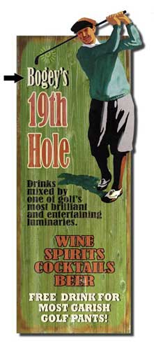 Custom 2-Dimensional Golfer's Sign