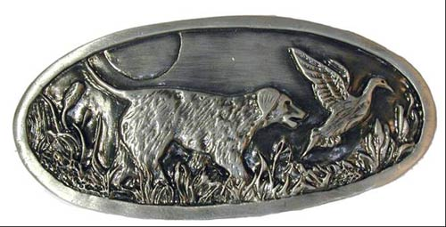 Dogs and Mallard Drawer Pull