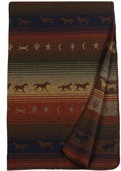Mustang Canyon Wool Throw