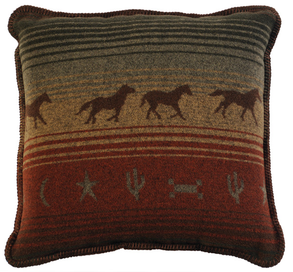 Mustang Canyon Wool Pillow