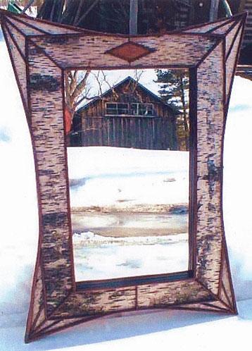 Birch Bark Mirror/Frame