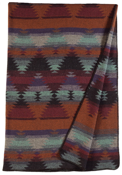 Painted Desert Wool Throw