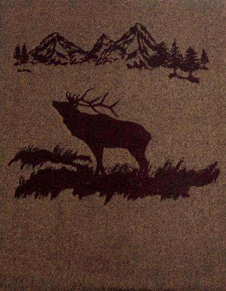 Rocky Mountain Elk Wool Throw