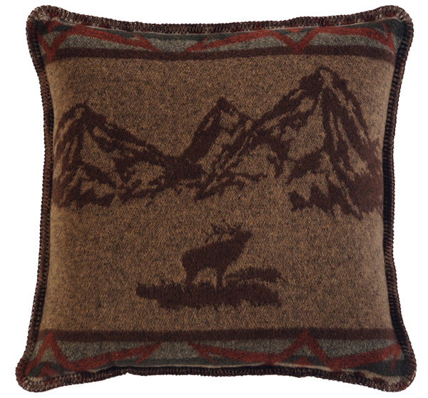 Rocky Mountain Elk Wool Pillow