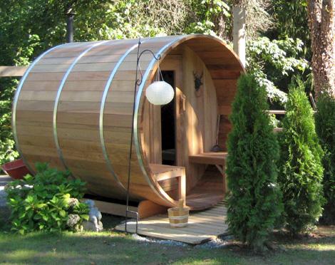 Clear Western Red Cedar Barrel Sauna