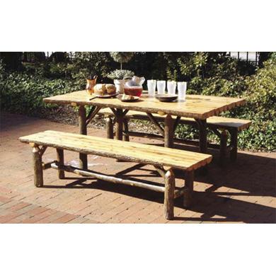Split Log Dining Table