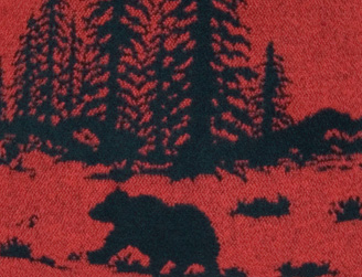 Wooded River Bear Fabric