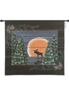 Moonlight Moose Wall Hanging